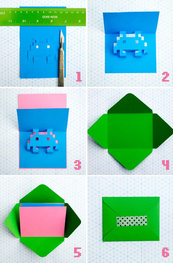 8-bit popup cards