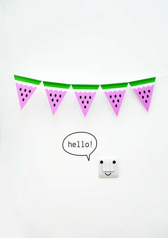 Watermelon bunting by minieco