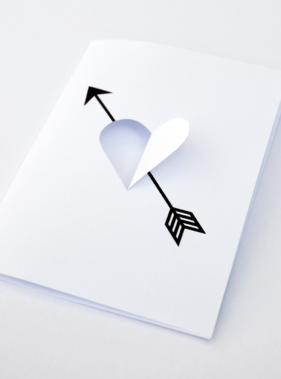 DIY 'Heart & Arrow' card