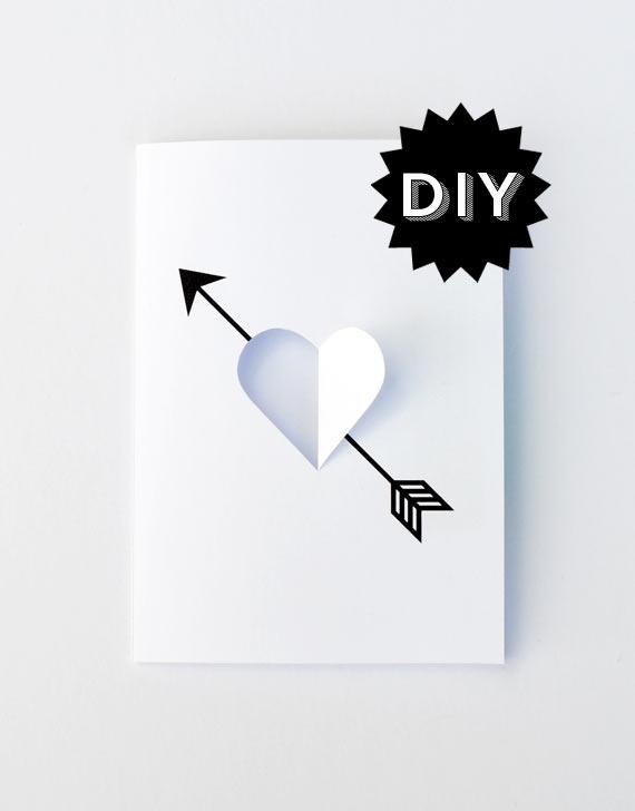 DIY 'Heart & Arrow' card