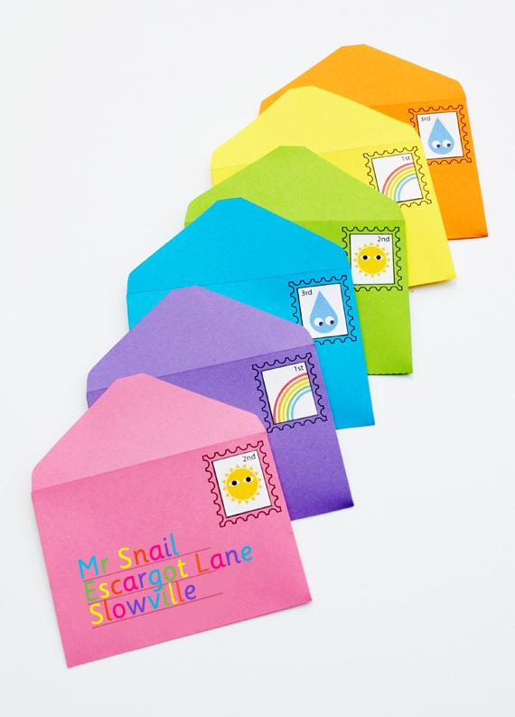 DIY play envelopes & stamps