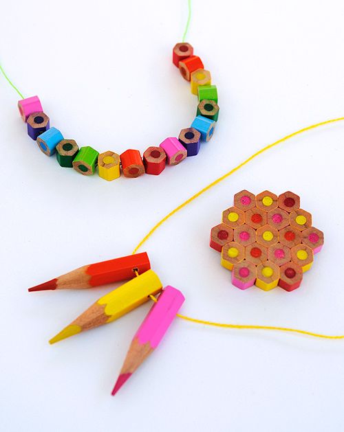 Pencil crayon jewellery