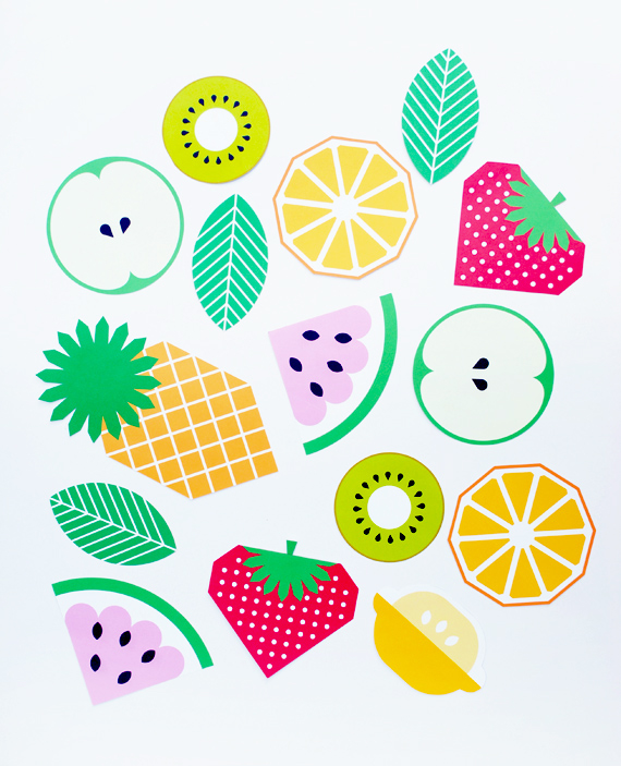 photo regarding Printable Fruit Pictures identified as Printable fruit garland MINI ECO