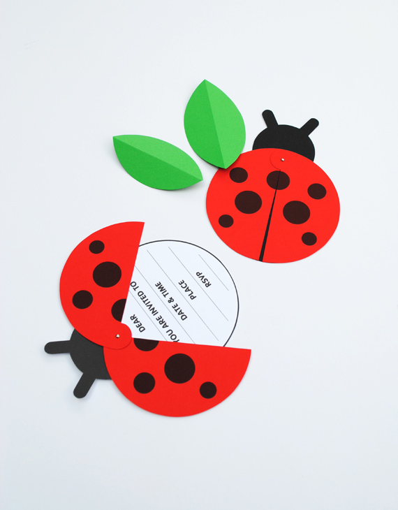 DIY Ladybird Party Invite