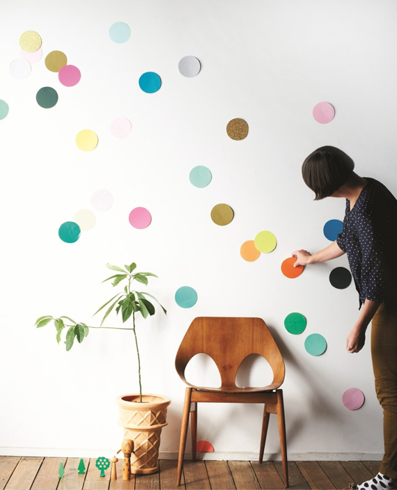 Giant confetti walls // Find & Keep ©2012 Hardie Grant Book