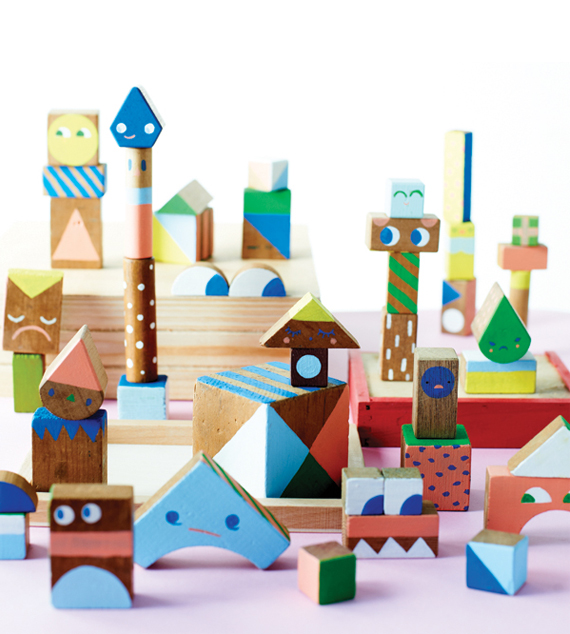 Wooden block family by Beci Orpin // Find & Keep ©2012 Hardie Grant Books