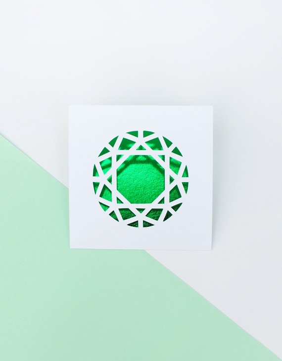 You're a gem // DIY papercut card // minieco