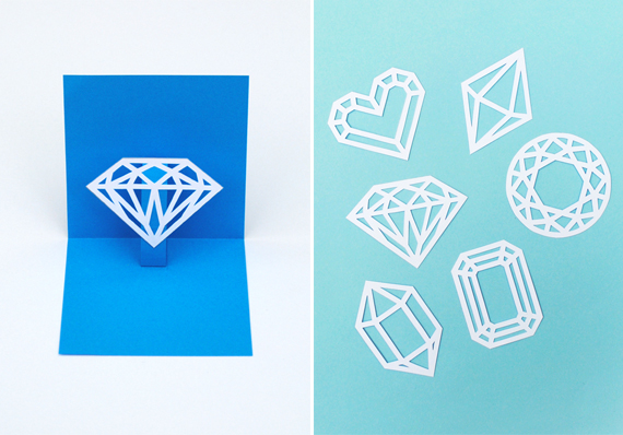 You're a gem // DIY pop-up card // minieco