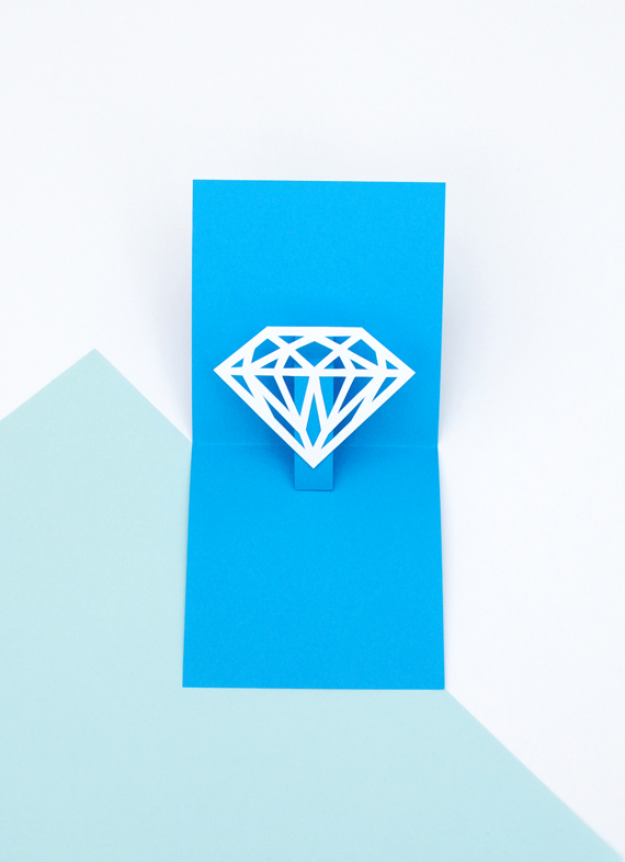 You're a gem // pop-up card // minieco