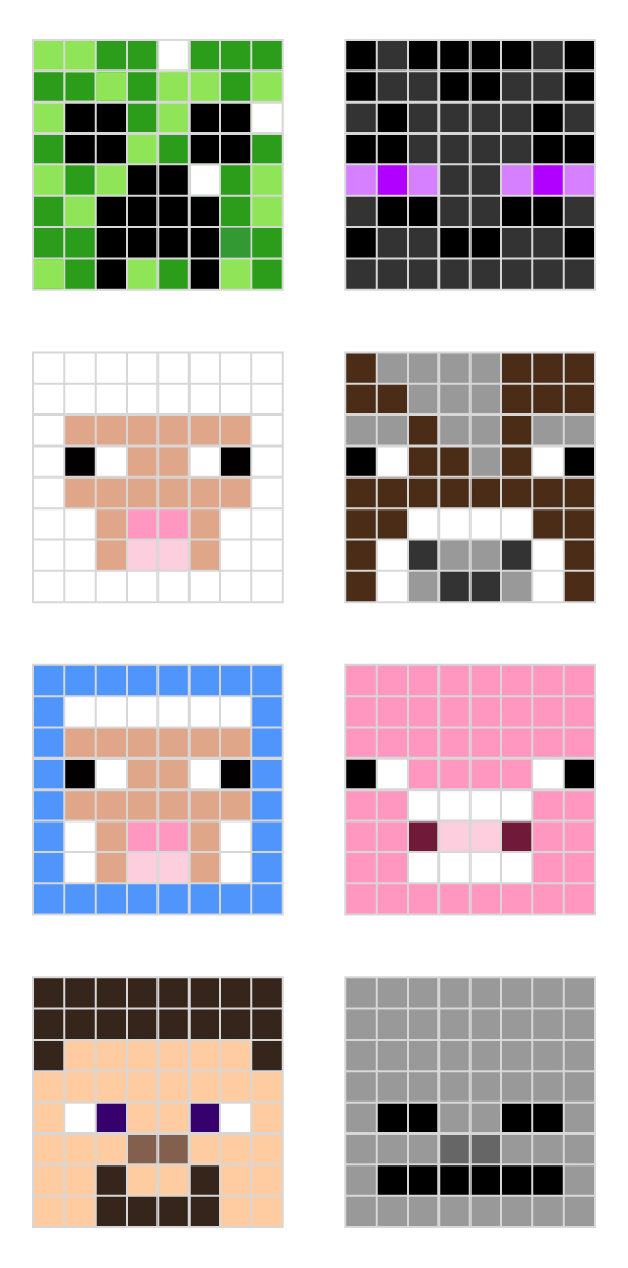 how to make minecraft pixel art templates - minecraft pixel art templates all for the boys