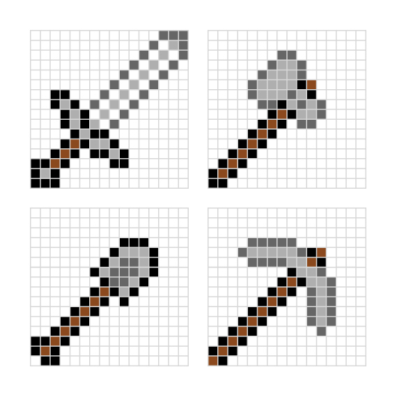 Minecraft pixel art templates — All for the Boys