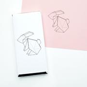 Origami rabbit // chocolate wrapper