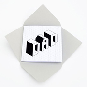 Printable father's day card // Isometric font