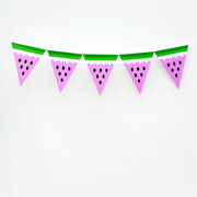 Watermelon bunting