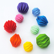 Folded origami decoration