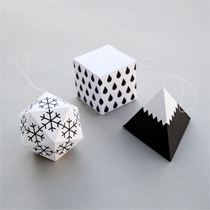 Winter geometric decorations