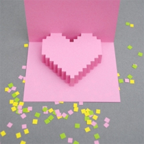 Popup heart card