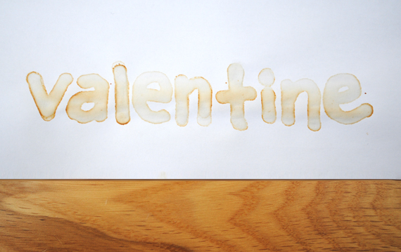 DIY Valentine's Day Idea: Invisible Ink Love Notes