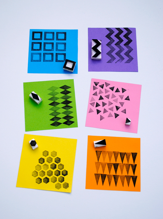 Handmade geometric stamps for living minieco