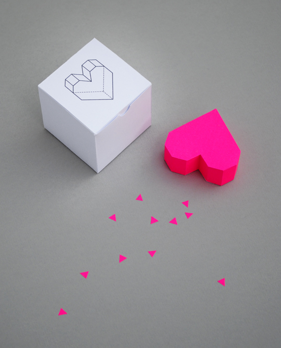 Boxed Geometric Heart