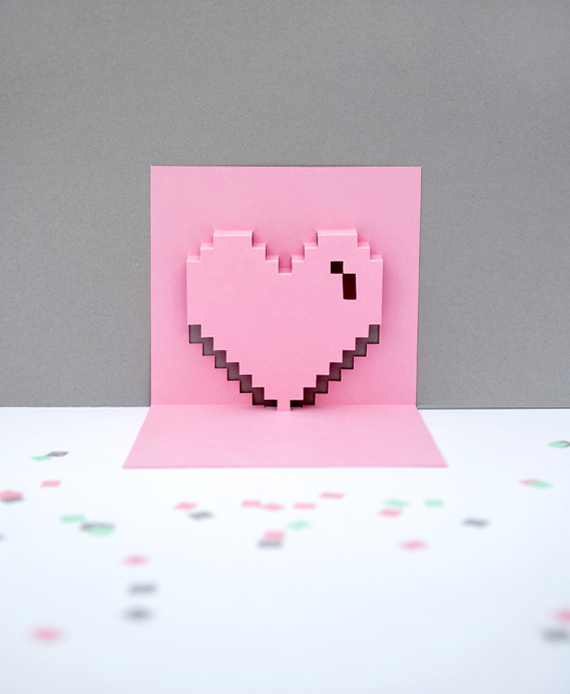 Popup Pixel Valentines Card 2013 New Amp Improved Minieco