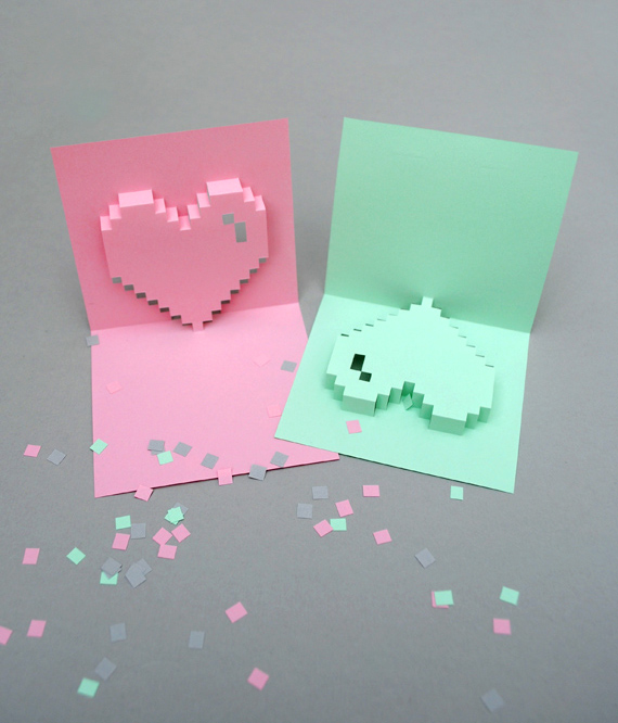 Popup pixel valentines card 2013 new improved mini eco popup pixel valentines card 2013 maxwellsz