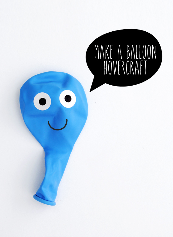 Balloon Hovercraft Experiment to Make a Balloon Hovercraft
