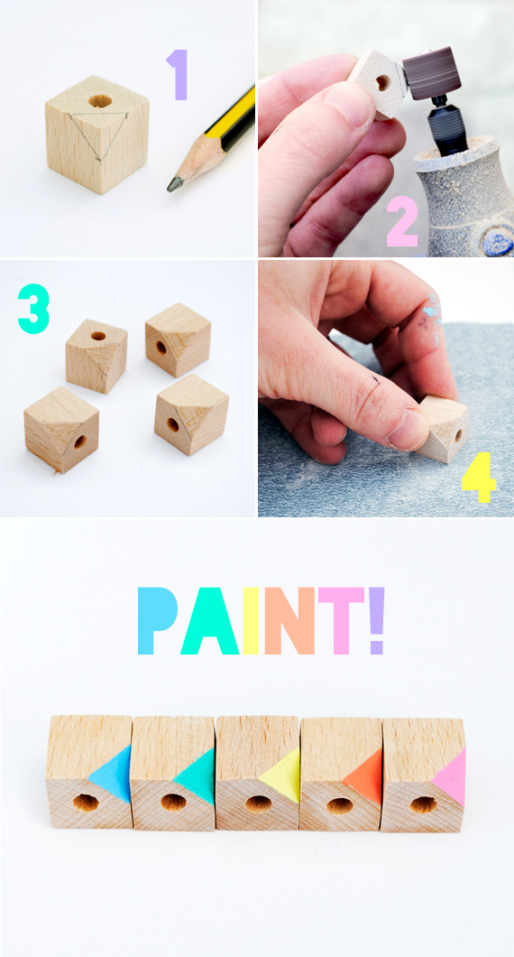 diy geometric beads // minieco