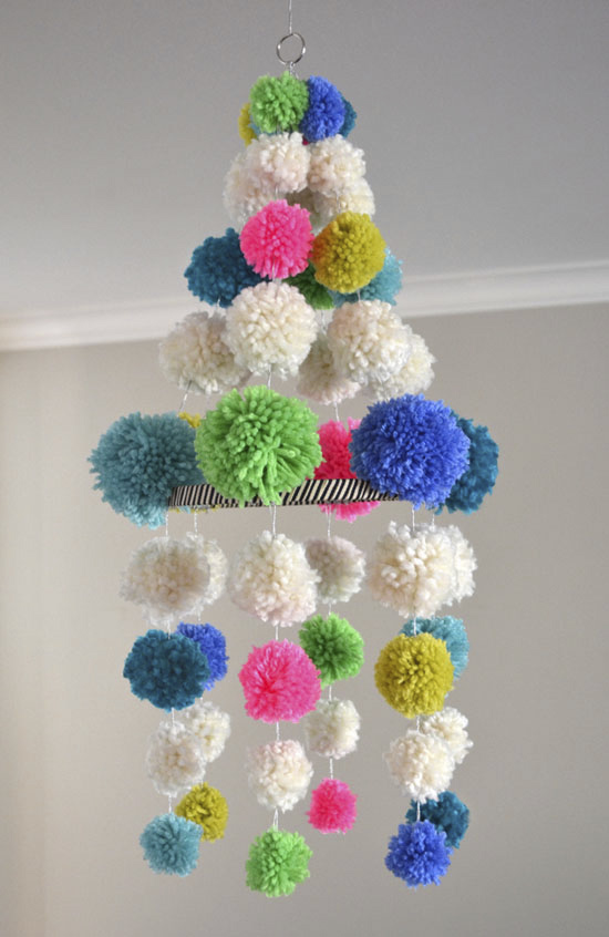 Pompom chandelier by Art Bar