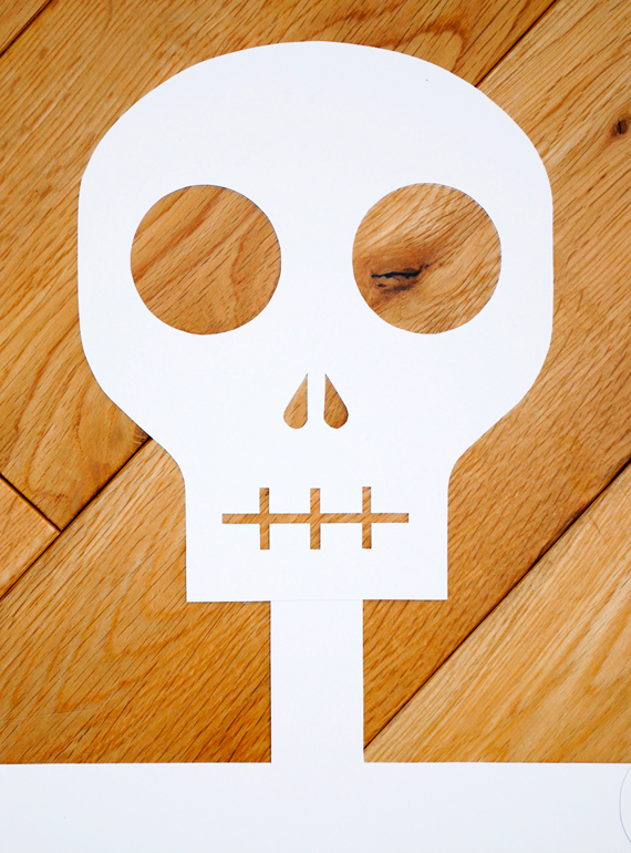 Printable paper skeleton
