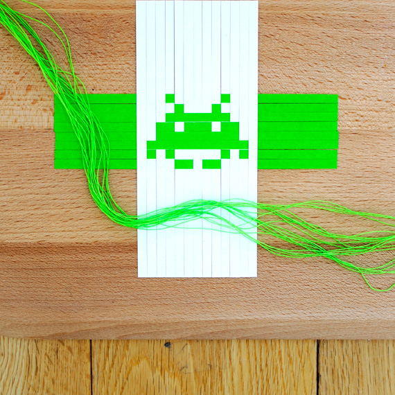 Woven space invaders
