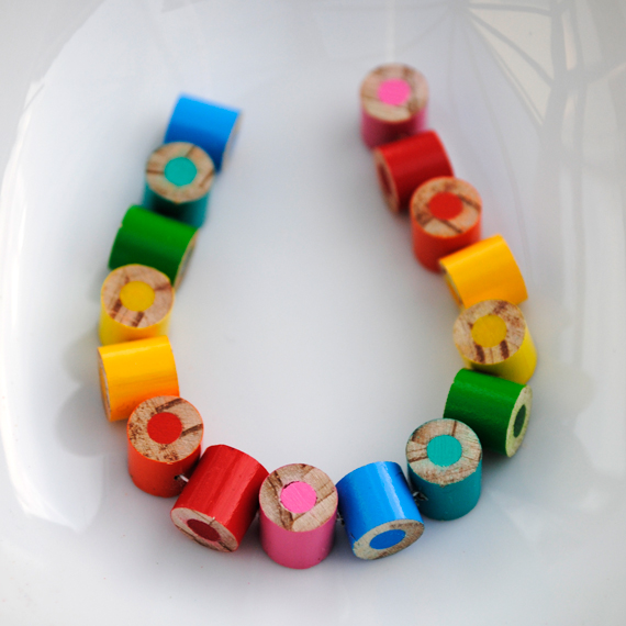 Pencil crayon necklaces