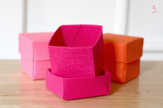 How About Orange: Stiffened felt boxes