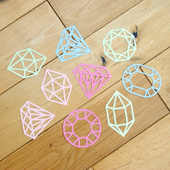 Papercut gems