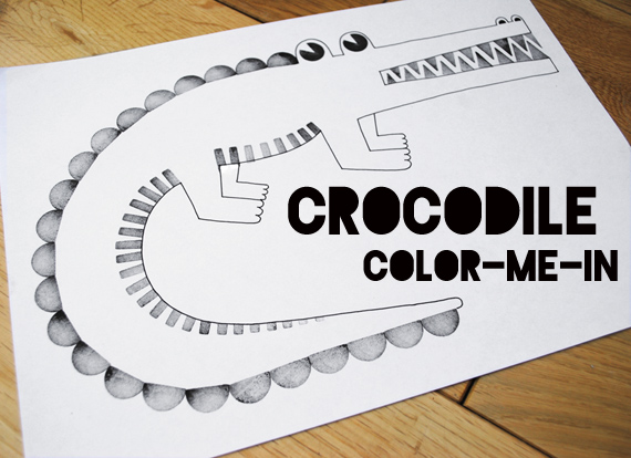 Crocodile 'color-me-in'