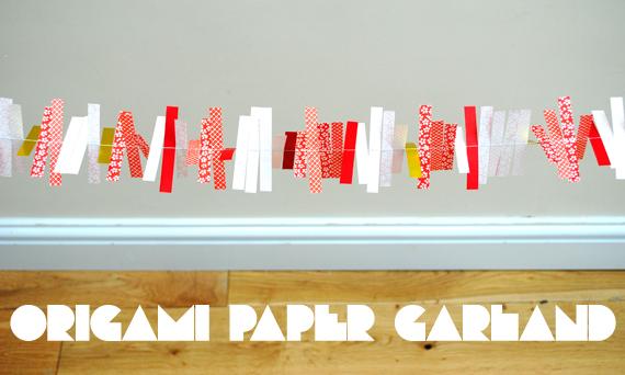 Festive origami decorations