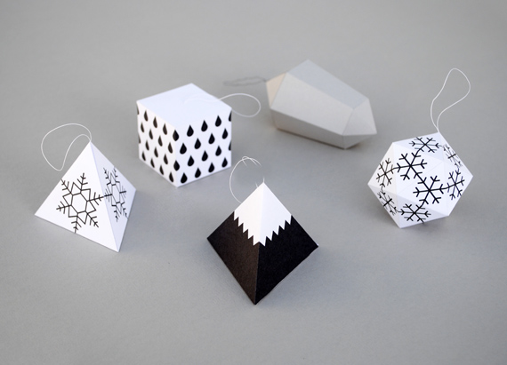 Christmas paper decorations minieco - Decorations de noel a fabriquer ...