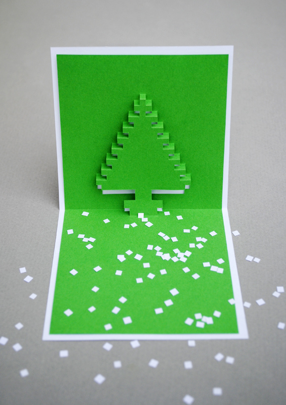 christmas pixel popup cards feel desain. Black Bedroom Furniture Sets. Home Design Ideas
