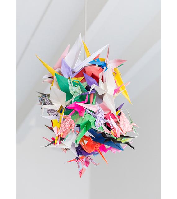 paper crane lamp