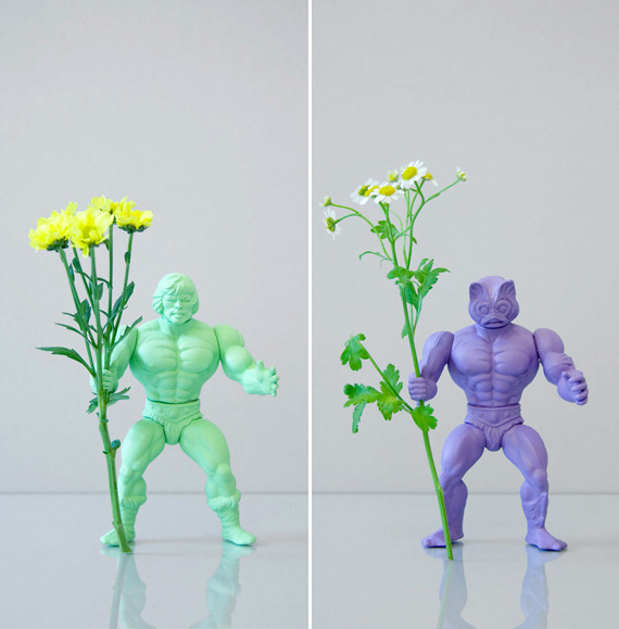 He-Man flower holders by Open Studio