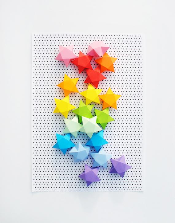 cut fold paper stars mini eco