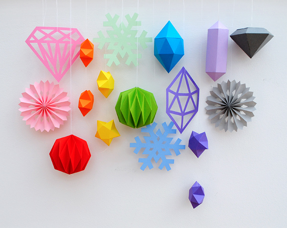 Cut Fold Paper Stars Mini Eco