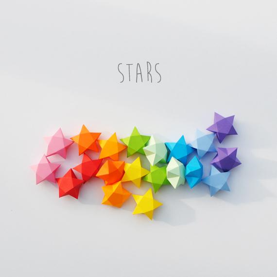 cut fold paper stars minieco