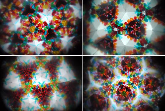 Kitchen roll kaleidoscope