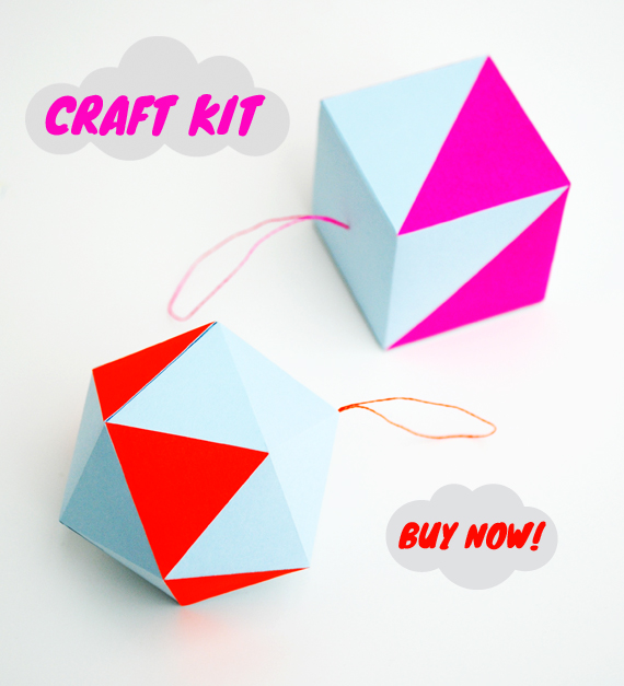 paper-craft kit // pastel & neon decorations