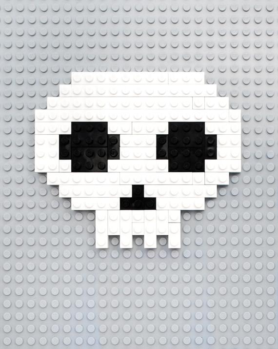 Lego | 8-bit skull
