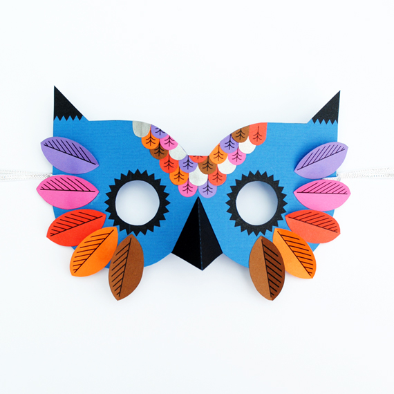 Paper Owl Mask MINI ECO