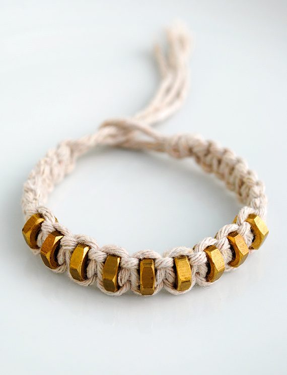 Hex-nut bracelet
