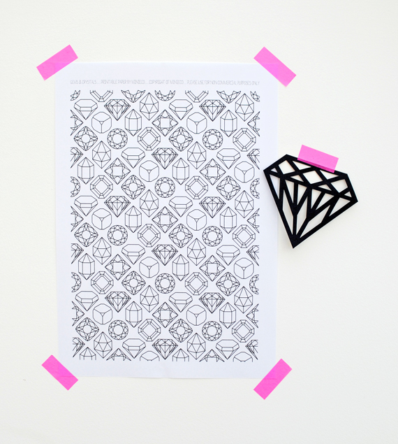 gems & crystals // printable paper