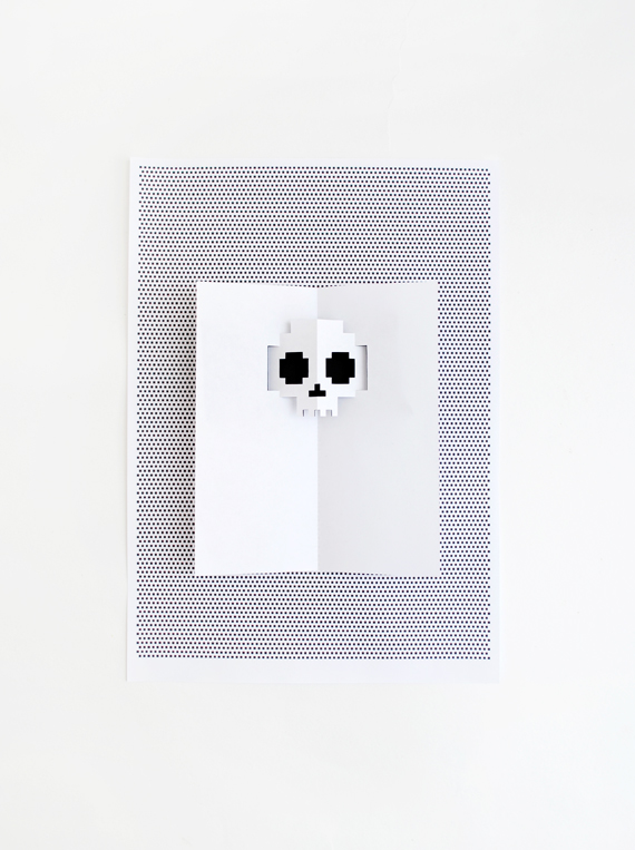 DIY pop-up Halloween invitation // Mini-eco